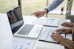 确信的商业领袖,企业队在o的会议会议 免版税库存照片