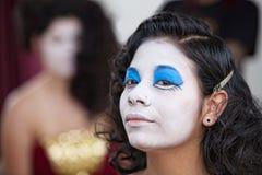 确信的女性马戏团演员 图库摄影