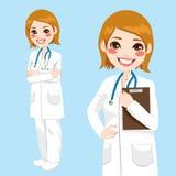 确信的妇女医生 免版税库存图片