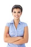 确信的微笑的妇女纵向  免版税库存照片
