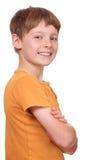 确信的男孩 免版税库存图片