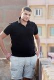 确信的阿拉伯埃及年轻商人 库存照片