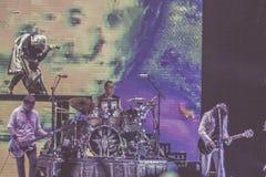 碎南瓜乐队活音乐会波隆纳2018年 免版税库存图片