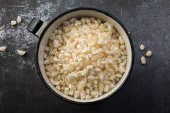 碎玉米粥 免版税库存图片