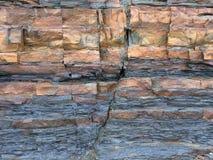 破碎的页岩砂岩床 免版税库存图片