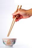 碗中国双happinese样式 免版税图库摄影