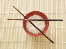 碗中国食物米 库存照片