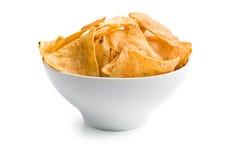 碗切削玉米饼 库存照片