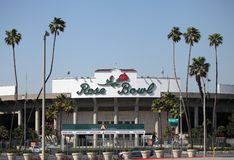 碗加州帕萨迪纳玫瑰色体育场 库存照片