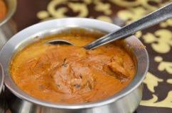 碗印地安羊肉咖喱 免版税图库摄影