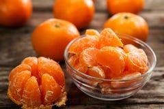 碗可口甜柑桔 库存图片