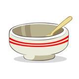 碗和匙子 免版税库存照片