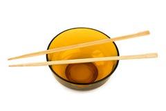 碗和筷子 免版税库存照片