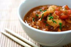 碗咖喱masala大虾 库存图片