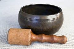 碗唱歌的藏语 免版税图库摄影