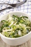 碗圆白菜酥脆沙拉开胃菜 免版税库存图片