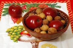 碗圣诞节 免版税库存照片