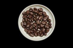 碗巧克力葡萄干 库存图片