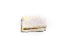 洗碗布或桌布隔绝了白色背景 免版税库存图片