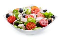 碗希腊沙拉 免版税库存照片