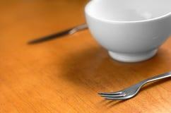 碗干净的空的白色 库存图片