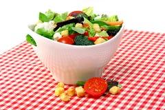 碗庭院凉拌生菜白色 库存图片