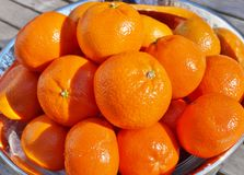 碗成熟橙色柑桔果子 库存图片