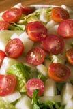 碗接近的沙拉 免版税图库摄影