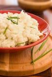 碗新鲜的土豆泥 免版税库存照片