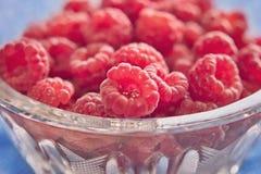 碗新鲜的水多的莓 免版税图库摄影