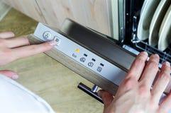 洗碗机机器 免版税库存图片
