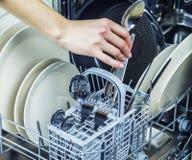 洗碗机机器 库存图片