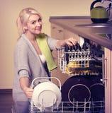 洗碗机 图库摄影