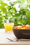 碗果子混合热带一的沙拉 库存图片