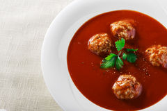 碗汤蕃茄蔬菜 免版税库存图片