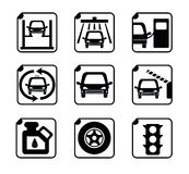 碗汽车推力增强的油替换服务 免版税库存照片