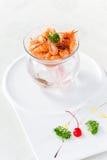 碗油煎的玻璃虾 图库摄影