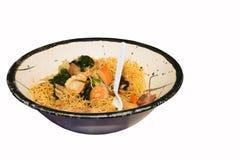 碗海鲜食物mein 库存照片