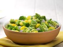 碗混杂的赤土陶器蔬菜 免版税库存照片