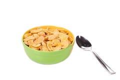 碗玉米片 免版税库存照片