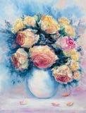 碗玫瑰 免版税图库摄影