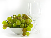 碗玻璃葡萄酒 免版税图库摄影