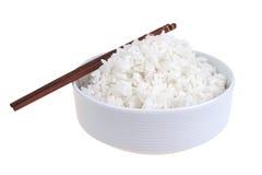 碗瓷煮熟的瓷米 库存照片