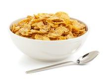 碗甜的玉米片 库存图片