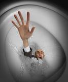 碗生意人下沉的洗手间 免版税库存图片