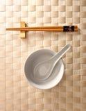 碗筷子 免版税库存照片