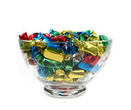 碗糖果玻璃 免版税库存照片