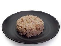 碗糙米 裁减路线 免版税库存图片