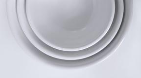 碗紧贴了白色 库存照片