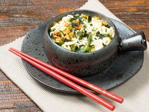 碗菜用亚洲面条 免版税库存照片